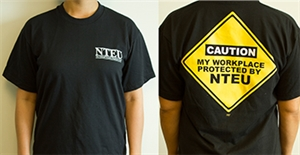 Picture of  NTEU Caution T-Shirt