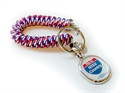 """Picture of Patriotic """"NTEU Country"""" Wrist Coil Key Chain"""